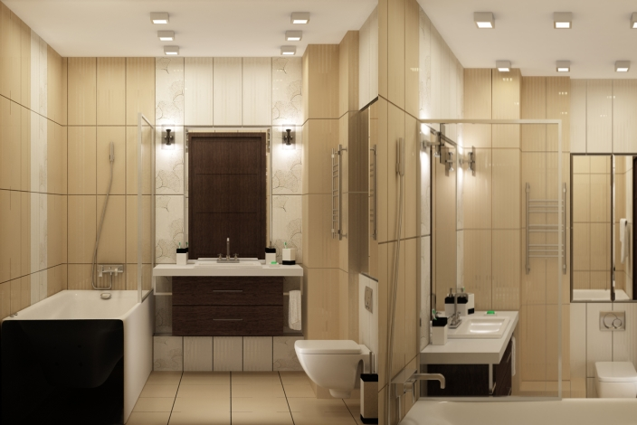 Ванная дизайн интерьера